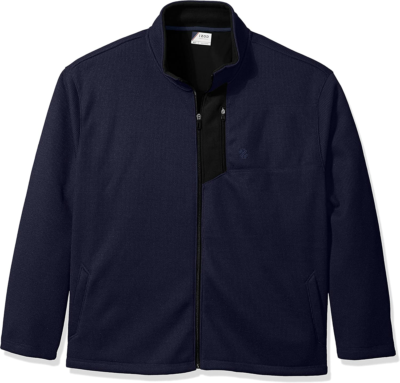 IZOD Men's Big and Tall Advantage Performance Full Zip Fleece Jacket