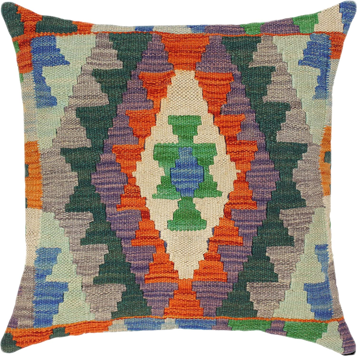 Southwestern Turkish Discount mail Max 56% OFF order Alejandr Hand Woven Throw Kilim Pillow