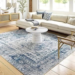 Artistic Weavers Desta Blue/White Area Rug, 7'10