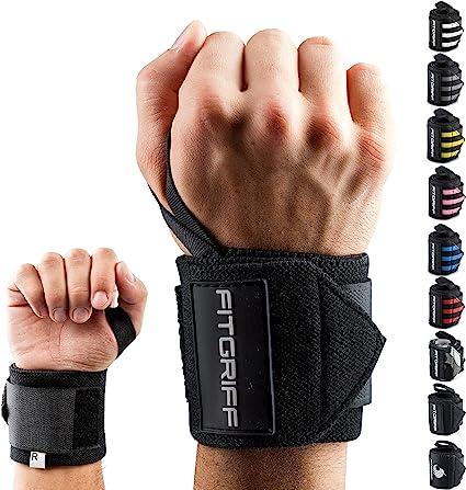 Fitgriff® Muñequeras Gym, Deportivas, Musculación, Gimnasio, Calistenia, Wrist Wraps - Mujeres y Hombres