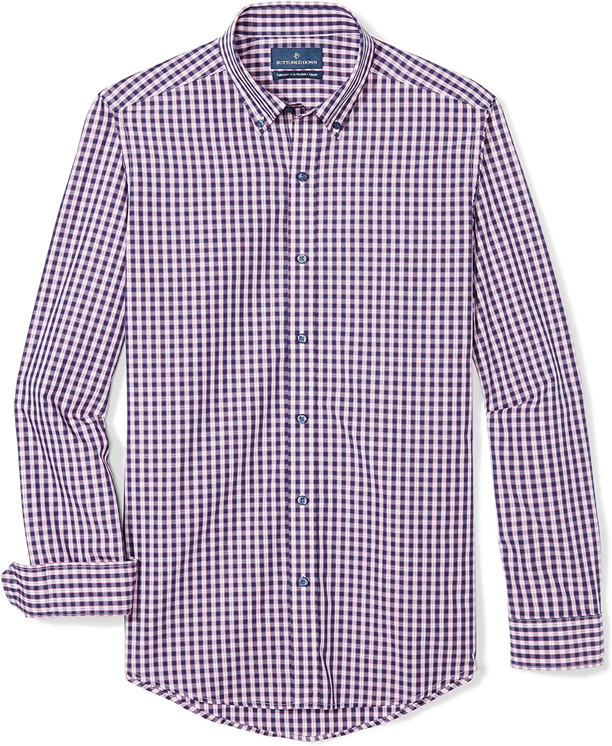 Buttoned Down Men's Tailored Fit Supima Cotton Sport Shirt