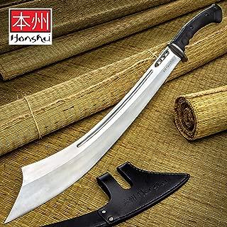 Honshu War Sword and Sheath - High Carbon Steel Blade, TPR Handle, Stainless Steel Guard - Length 30