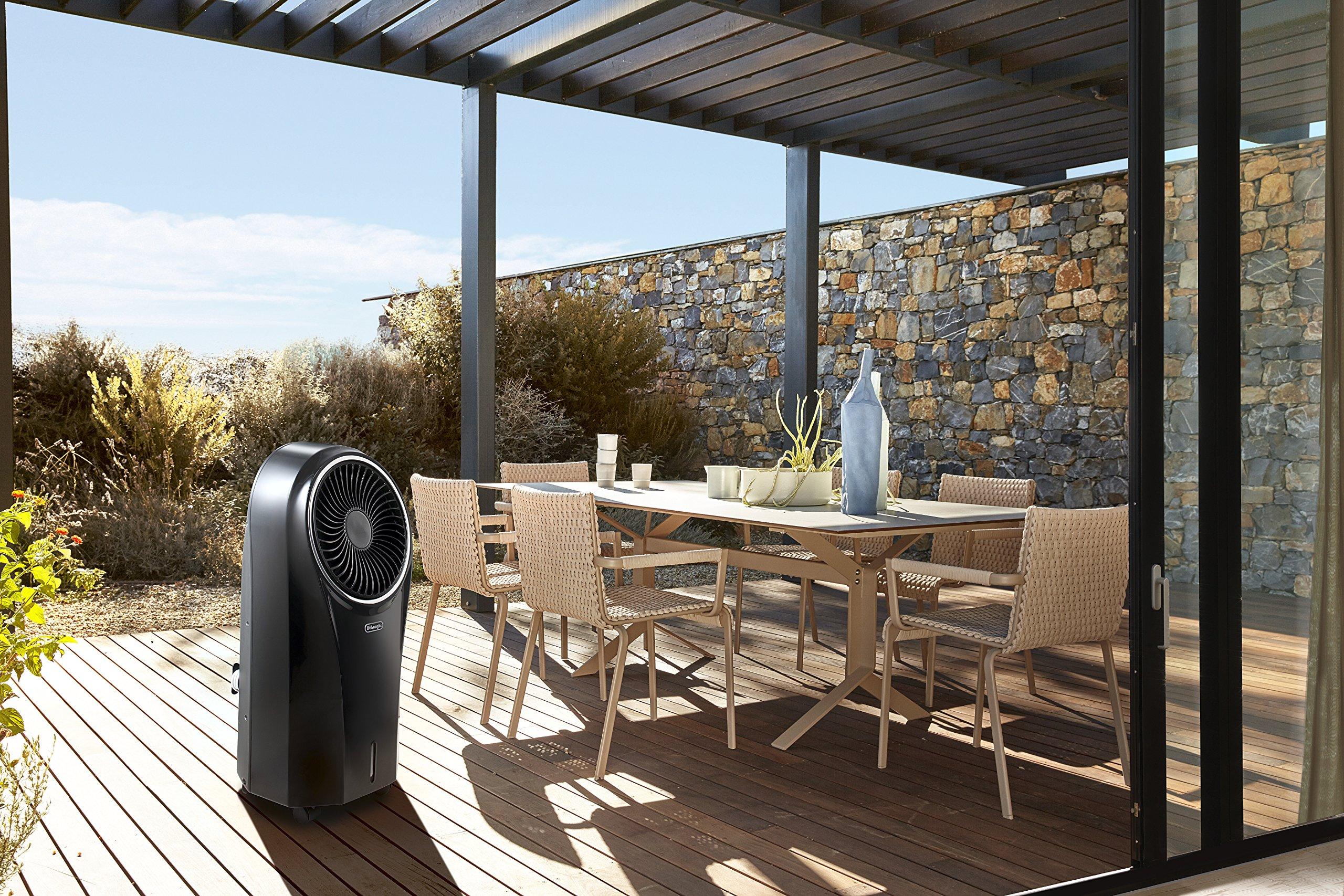 DeLonghi EV250.BK Climatizador Evaporativo con Ionizador y Filtro Antipolvo, Depósito de 4.5 L con 6 h de Autonomía, Protección ipx4, Pantalla LED, Mando a Distancia, Refrigeración Natural, Negro: 160.43: Amazon.es: Hogar