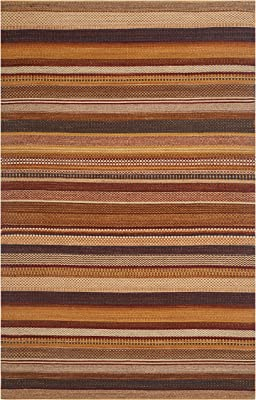 Safavieh Kilim Collection Klm951b Handmade Flatweave Wool Area Rug 4 X 6 Rust Furniture Decor