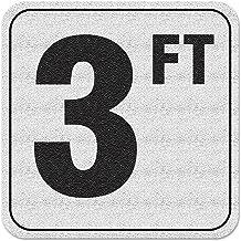 4 inch Font Aquatic Custom Tile Vinyl 3M Adhesive Swimming Pool Deck Depth Marker 7 FT