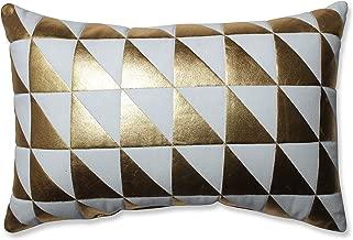 Pillow Perfect Glamour Triangle Gold-White Rectangular Throw Pillow