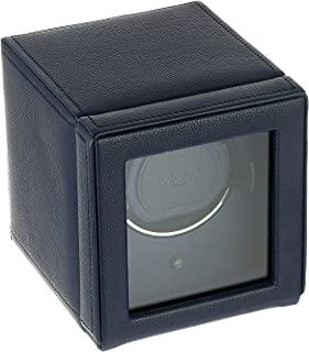 WOLF Unisex 461117 Wolf Cub Single Navy Analog Display Watch Winder with Cover