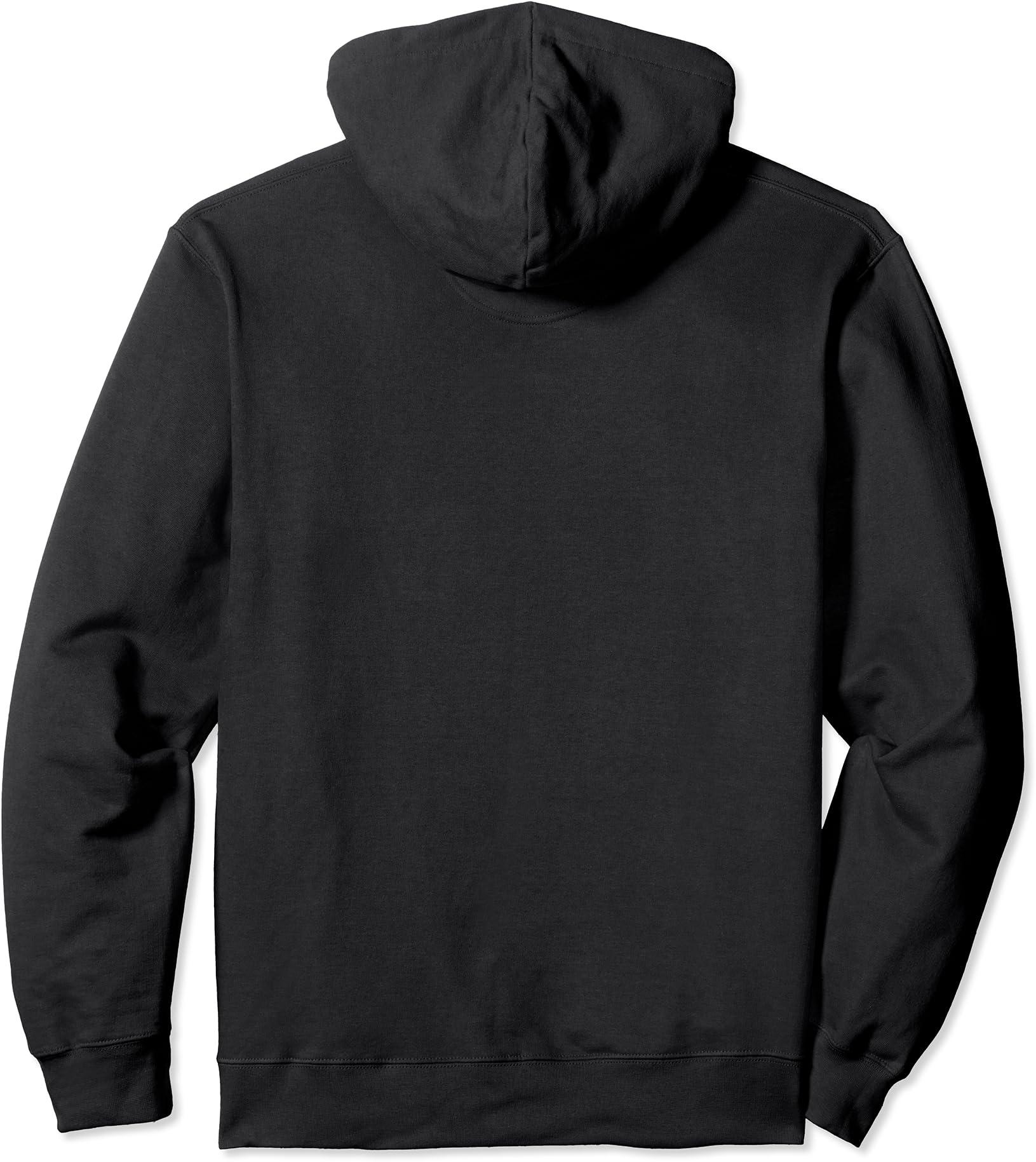 Solid Red Sigil of Baphomet Pullover Hoodie Sweatshirt Inverted Pentagram Metal