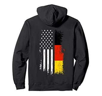 German American Flag Hoodie Pride Germany USA Hoodies