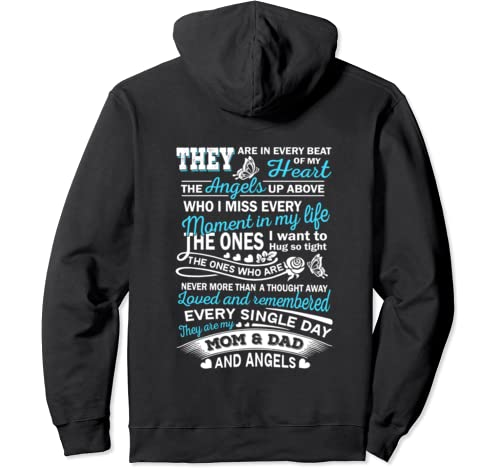 They Are My Mom And Dad And Angels   In Memory Pullover Hoodie