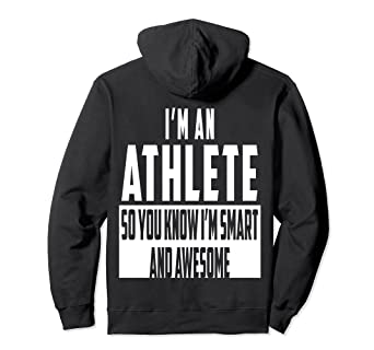 0c7368ce71 Amazon.com: Smart and Awesome Athlete Pullover Hoodie for Girl: Clothing