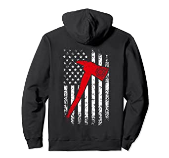 9587581e Image Unavailable. Image not available for. Color: Thin Red Line Firefighter  Hoodie Fire Axe Distressed Hoodie. Roll over image to zoom in. Patriot  Apparel ...