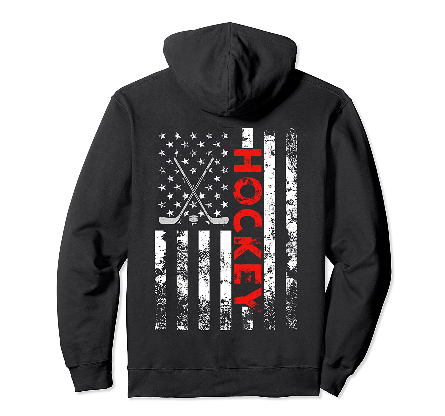 American Flag Hockey USA Patriotic Hoodie