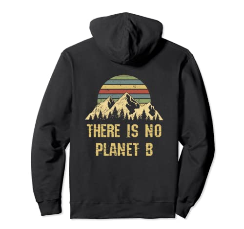 Earth Day Vintage Distressed NO Planet B Gift Pullover Hoodie