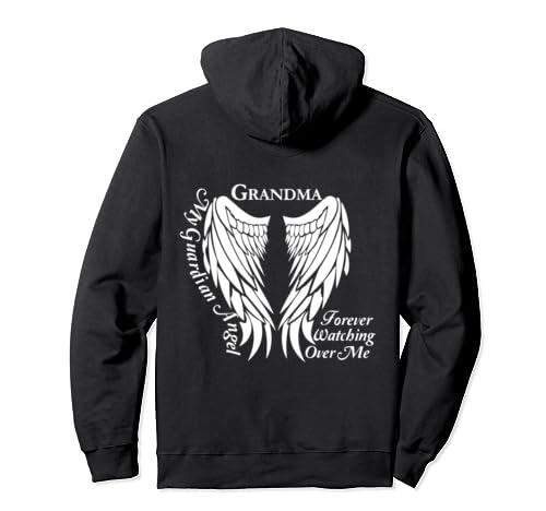 Grandma Guardian Angel - Memorial Gift for Loss of Grandma Pullover Hoodie