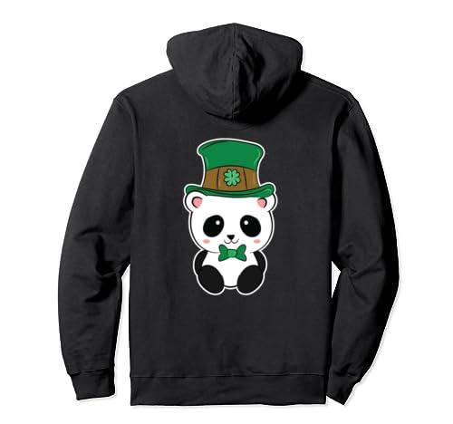 Panda Leprechaun St. Patrick's Day Gift Pullover Hoodie