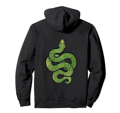 Green Snake Art Snake Symbol Snake  Pullover Hoodie