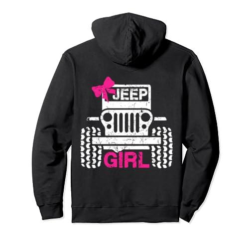 Jeeps Girl Cute Ribbon Jeeps Men/Women/Kids Jeeps Offroad Pullover Hoodie