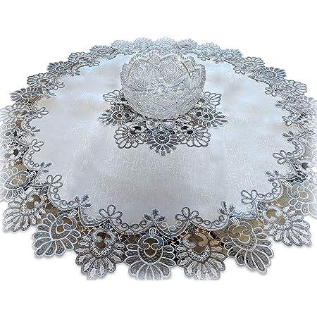 Vintage Round Doily Antique White