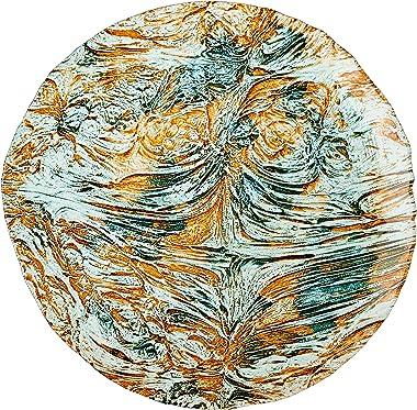 Ballad Platter Turquoise Brown, 15.5-Inch