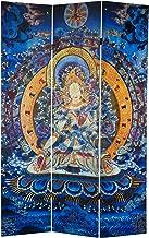 Oriental Furniture 6 ft. Tall Radiant Tara Tibetan Double Sided Canvas Room Divider