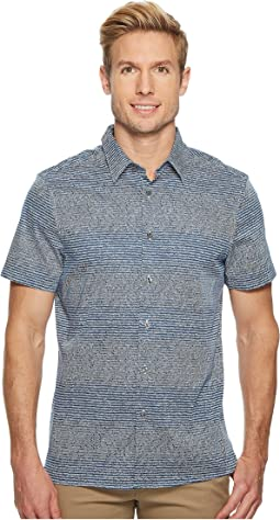 Perry Ellis Short Sleeve Scribble Print Shirt