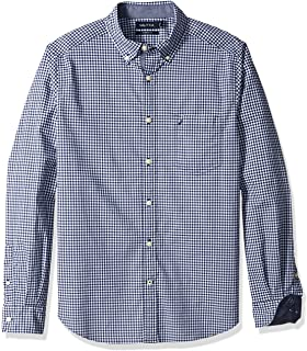 Nautica Classic Fit Stretch Gingham Long Sleeve Button Down Shirt