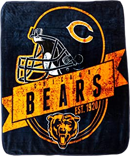 The Northwest Company Officially Licensed NFL Grand Stand Plush Raschel Throw Blanket