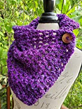 Crochet Scarf. Infinity Scarf. Infinity Cowl. Cowl. Scarf. Chunky. Katniss inspired cowl. Wood button cowl. Button scarf. Bead G's on AMAZON