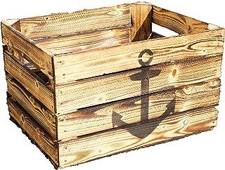 MYBOXES Holzkiste im maritimen Design in 3 Gr/ö/ßen 14,5x10,5x9