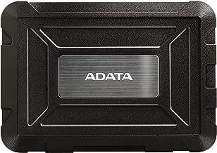 ADATA ED600 USB3.1 Tool-Free Easy Swap IP54 Waterproof Shockproof Dustproof 2.5inch SSD and Hard Drive Enclosure (AED600-U31-CBK)