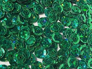 Sequins 8mm 1000/Pkg Crazy Dots Finish Emerald Green