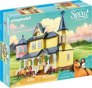 PLAYMOBIL Spirit Riding Free Lucky's House Playset,...