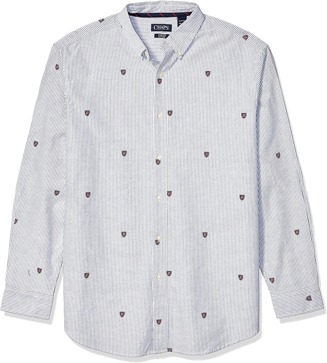 Chaps Men's Big and Tall Long Sleeve Stretch Oxford Button Down Shirt