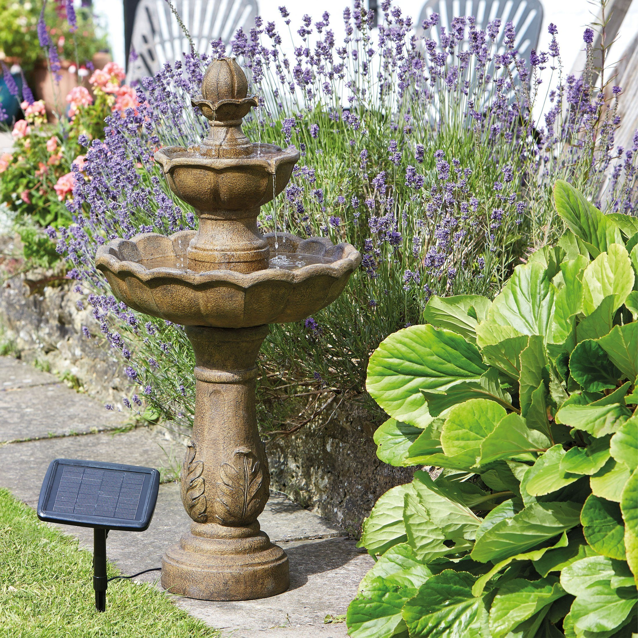 Smart Garden Fuente Solar para Jardín de 3 Niveles, Diseño de Pájaros: Amazon.es: Jardín