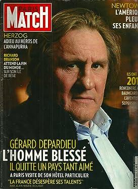 Paris Match, Décembre 2012: Newton L'amérique Pleure Ses Enfants,depardieu, L'homme Blessé, Richard Branson, Herzog, Adieu Au Héros De L'annapurna Et Autres