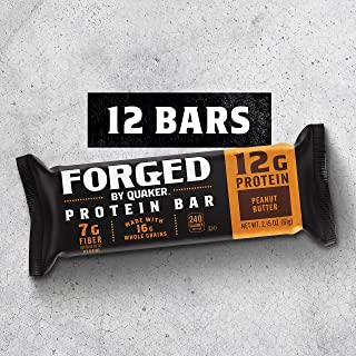 Quaker Forged Protein Bars, Peanut Butter, 2.15oz Bars (12 Pack)