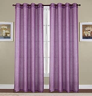 RT Designers Collection Sparkle Woven Lurex Grommet Curtain Panel, 54