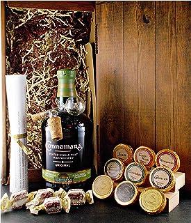 Geschenk Connemara Original irischer Single Malt Whiskey  Glaskugelportionierer Edelschokolade  Fudge