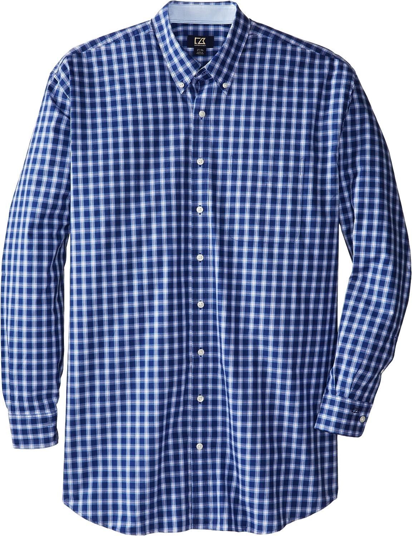 Cutter & Buck Men's Big-Tall Long Sleeve West Seattle Check Shirt