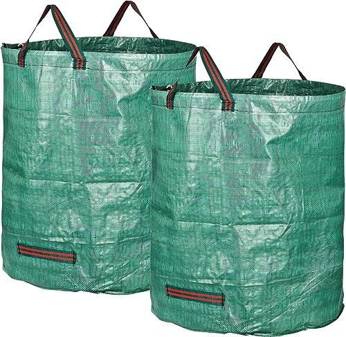 GardenMate 2 Bolsas de Basura de jardín de 272 L | Tejido de Polipropileno (PP) Robusto de 150 g/m2