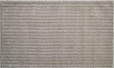 Grund 3D Bath Rug, Ultra Soft and Absorbent, Anti Slip, Riffle, 70x120 cm, Mineral Gray