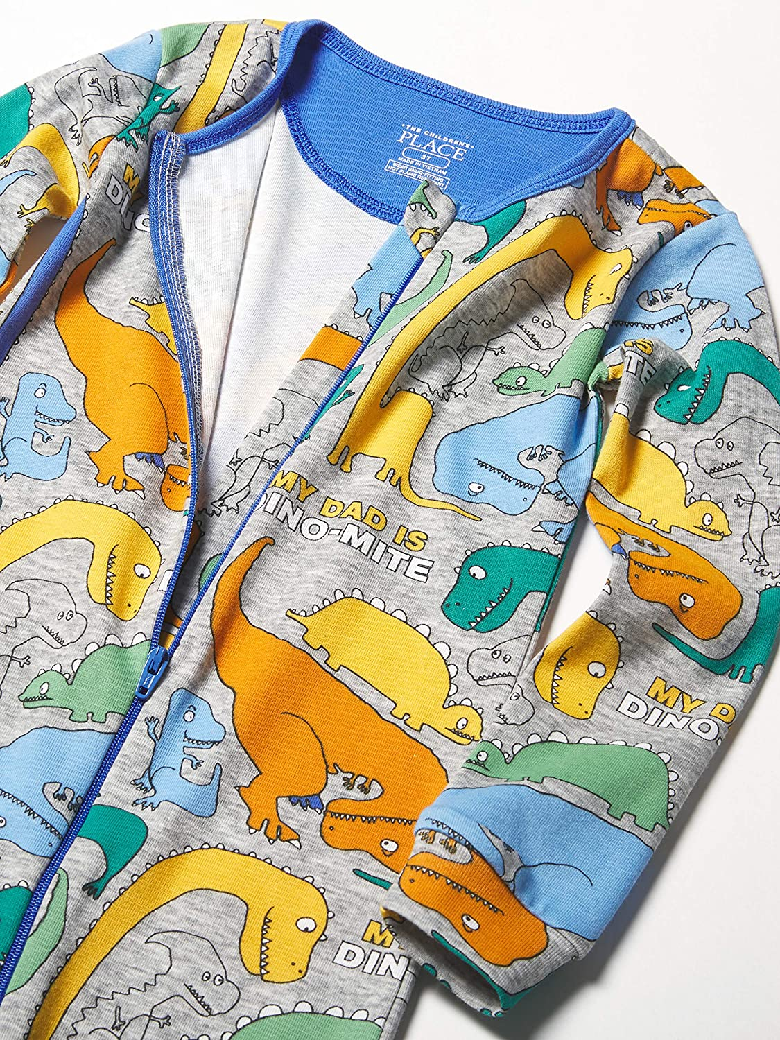 The Children's Place Boys' Baby and Toddler Dino Snug Fit Cotton One Piece Pajamas
