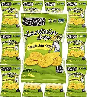Sponsored Ad - Samai Pacific Sea Salt, Plantain Chips, Gluten-Free, 1.2oz Bag (Pack of 12, Total of 14.4 Oz)