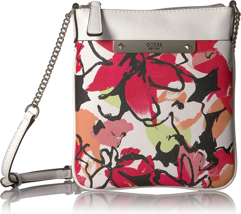 GUESS Britta Floral Crossbody Top Zip B072K3X1PP