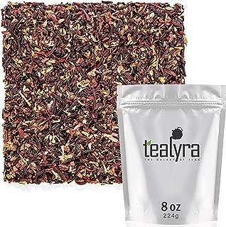 Tealyra - Strawberry Hibiscus Sangria - Apple Orange Mint - Herbal Fruity Loose Leaf Tea Blend - Caffeine-Free - Vitamin Rich - Hot or Iced - 224g (8-ounce)