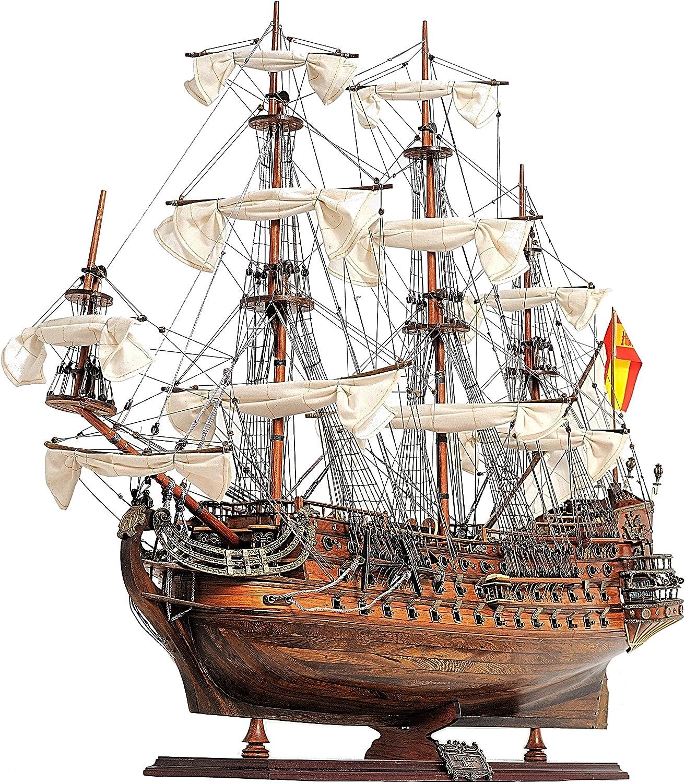 Old Modern Handicrafts San Felipe Medium Wooden Model Ship, Multi