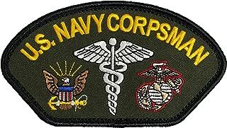 U.S. Navy Corpsman Patch FMF Marine Corps OD GREEN