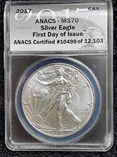 2018 silver eagle anacs ms70