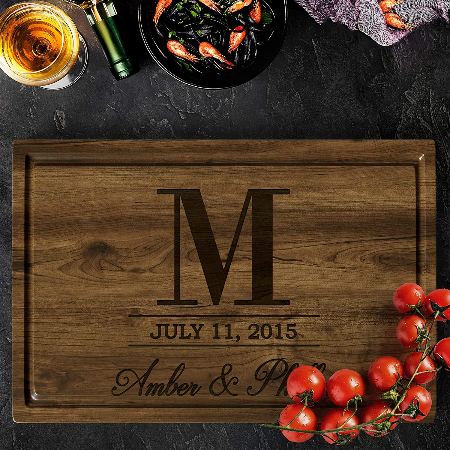 Personalized Walnut Cutting Board with Coasters Oil shop and Elegant Mineral